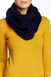 Nine West Chunky Zigzag Knit Infinity Scarf Blue