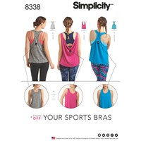 Simplicity Women's Athletic Top Sewing Pattern 8338