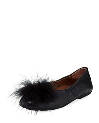 Gentle Souls Portia Feather Ballet Flats Black