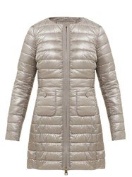 Herno Quilted Down Filled Coat Silver