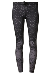Roxy Break Free Tights Graphite Animal Print Grey