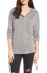 Roxy 'S Sunset Surfside Side Tie Hoodie Charcoal Heather