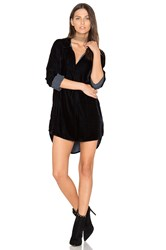 Cp Shades Terry Velvet Shirt Dress Navy