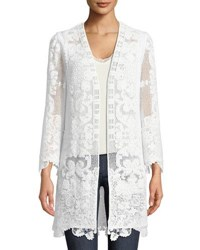 Kobi Halperin Mina Open Long Cotton Cording Coat White