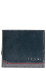 Ted Baker London Roller Textured Leather Wallet Blue Navy