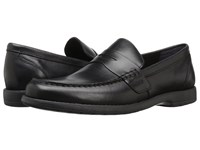 Nunn Bush Appleton Moc Toe Penny Loafer Black Men's Slip On Dress Shoes