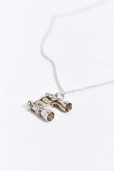 We Are All Smith Silver Binoculars Necklace Bronze