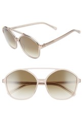 Raen Women's Torrey 58Mm Aviator Sunglasses Flesh