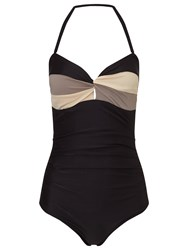 Phase Eight Colour Block Swimsuit Black Mocha