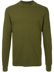 Attachment Round Neck T Shirt Green