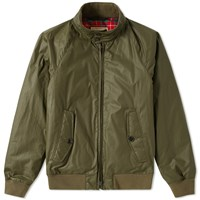 Baracuta G9 Dry Wax Harrington Jacket Green