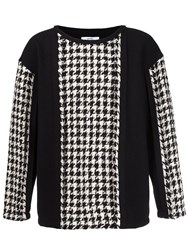 Aganovich Houndstooth Pattern Jumper Wool Black