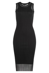 Alexander Wang Knitted Dress With Sheer Inserts Black