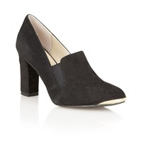 Lotus Crew High Heel Shoes Black Suede