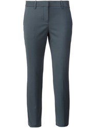 Theory Cropped Tailored Trousers Grey