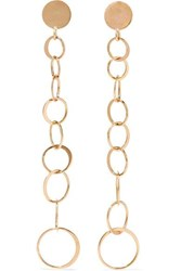 Melissa Joy Manning Gradient Circle 14 Karat Gold Earrings One Size