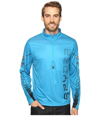 Spyder Powertrack Dry W.E.B. T Neck Electric Blue Black Polar Men's Long Sleeve Pullover