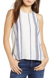 Thread And Supply Skylar Stripe Tank Blanc Blue