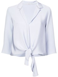 Peter Cohen Tie Front Shirt Blue
