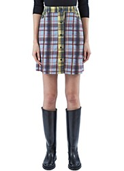 Preen Line Ilaria Checked A Line Skirt Purple