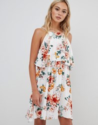 Urban Bliss Floral Cami Dress In White Multi