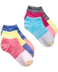 Gold Toe Women's Jersey Liner Sock 6 Pack Pink Bright Assorted