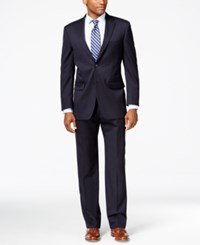 Tommy Hilfiger Navy Solid Classic Fit Suit