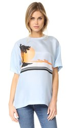 Rag And Bone Griffin Top Sky Blue