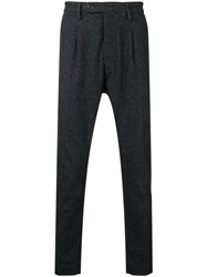 Al Duca D'aosta 1902 Melange Knit Trousers Black