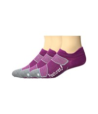 Feetures Elite Merino Ultra Light No Show Tab 3 Pair Pack Berry White No Show Socks Shoes Pink