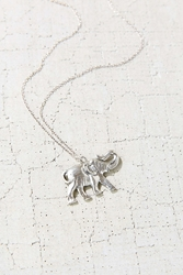 Urban Outfitters Elephant Pendant Necklace Silver