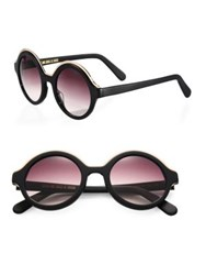 Cutler And Gross 1200 Pink Panther 48Mm Round Sunglasses Camo Black