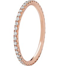 Chaumet 18Ct Rose Gold And Diamond Stackable Wedding Band