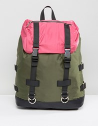 Asos Colourblock Hiker Backpack Multi