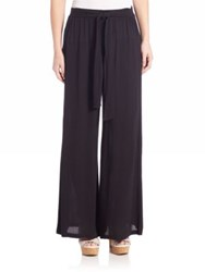 Splendid Crinkled Gauze Pants Black