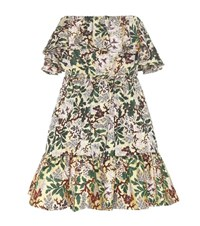 Philosophy Di Lorenzo Serafini Off The Shoulder Floral Jacquard Mini Dress Multicoloured