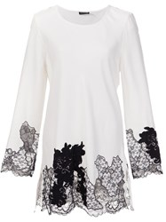 Josie Natori Lace Detail Blouse White