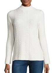 Theory Friselle Cable Knit Sweater Ivory