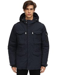 Schott Smith Nylon And Cotton Jacket Navy