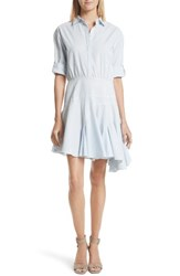 Grey Jason Wu Women's Stripe Cotton Dress Baby Blue Multi