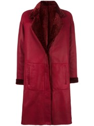 Drome Two Side Leather Coat Red