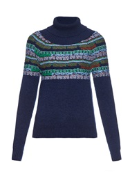 Barrie Glemski Fair Isle Roll Neck Cashmere Sweater