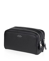 Smythson Burlington Small Wash Bag Black