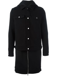 Givenchy Layered Hooded Coat Black