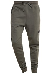 Urban Classics Athletic Interlock Tracksuit Bottoms Olive