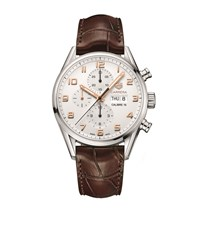 Tag Heuer Carrera 43Mm Calibre 16 Chronograph Watch Unisex Brown