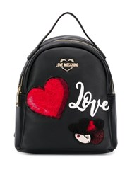 Love Moschino Backpack With Patches Black