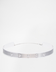 Gogo Philip Studded Collar Necklace Silver