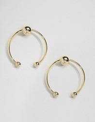 Asos Limited Edition Sleek Bar Bell Earrings Gold