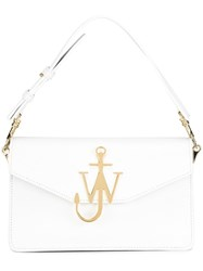 J.W.Anderson Logo Plaque Tote Bag White